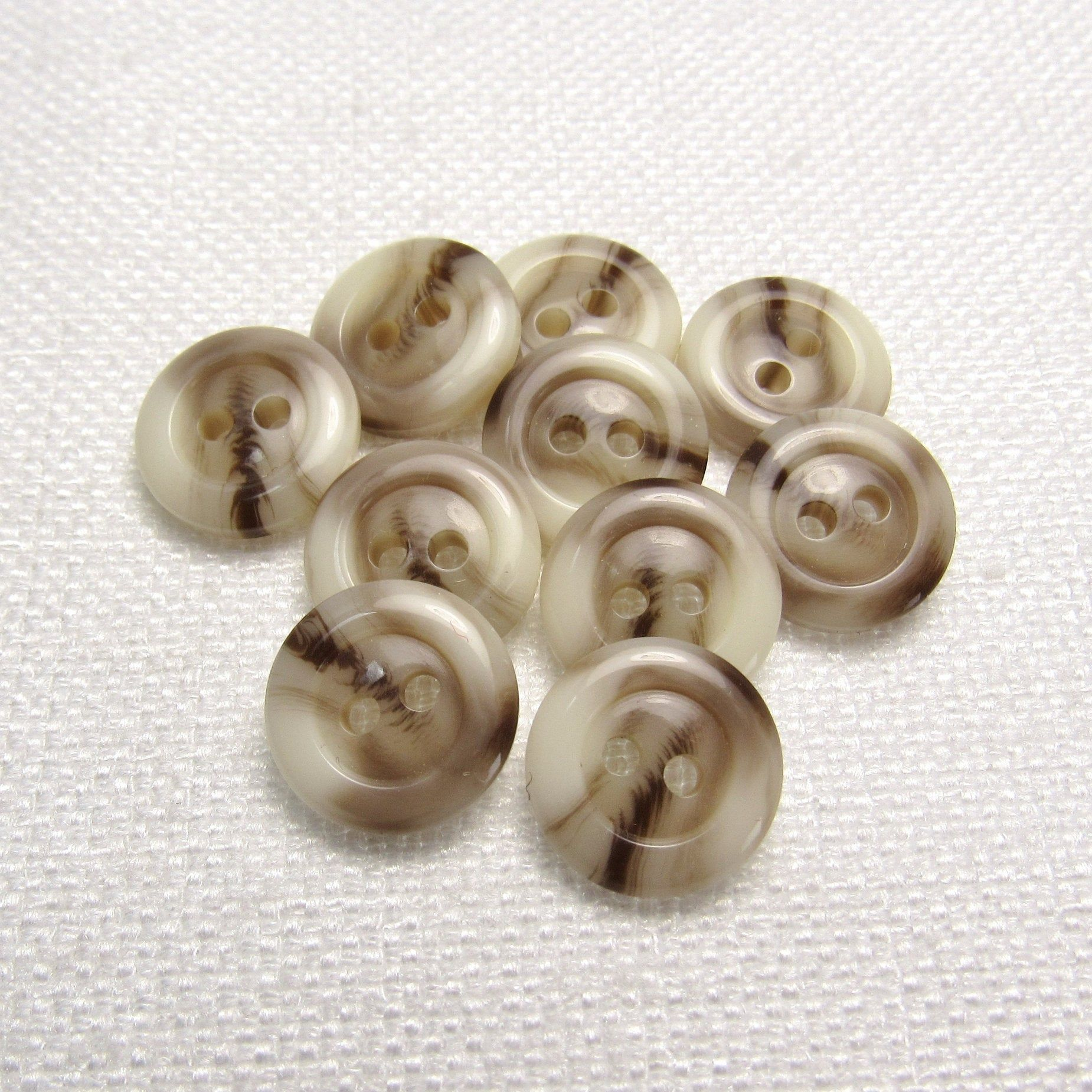 VINTAGE Taupe Buttons NOS
