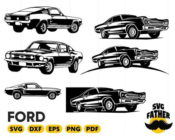 Ford Svg Ford Mustang Svg Car Svg Ford Silhouette Ford Clipart