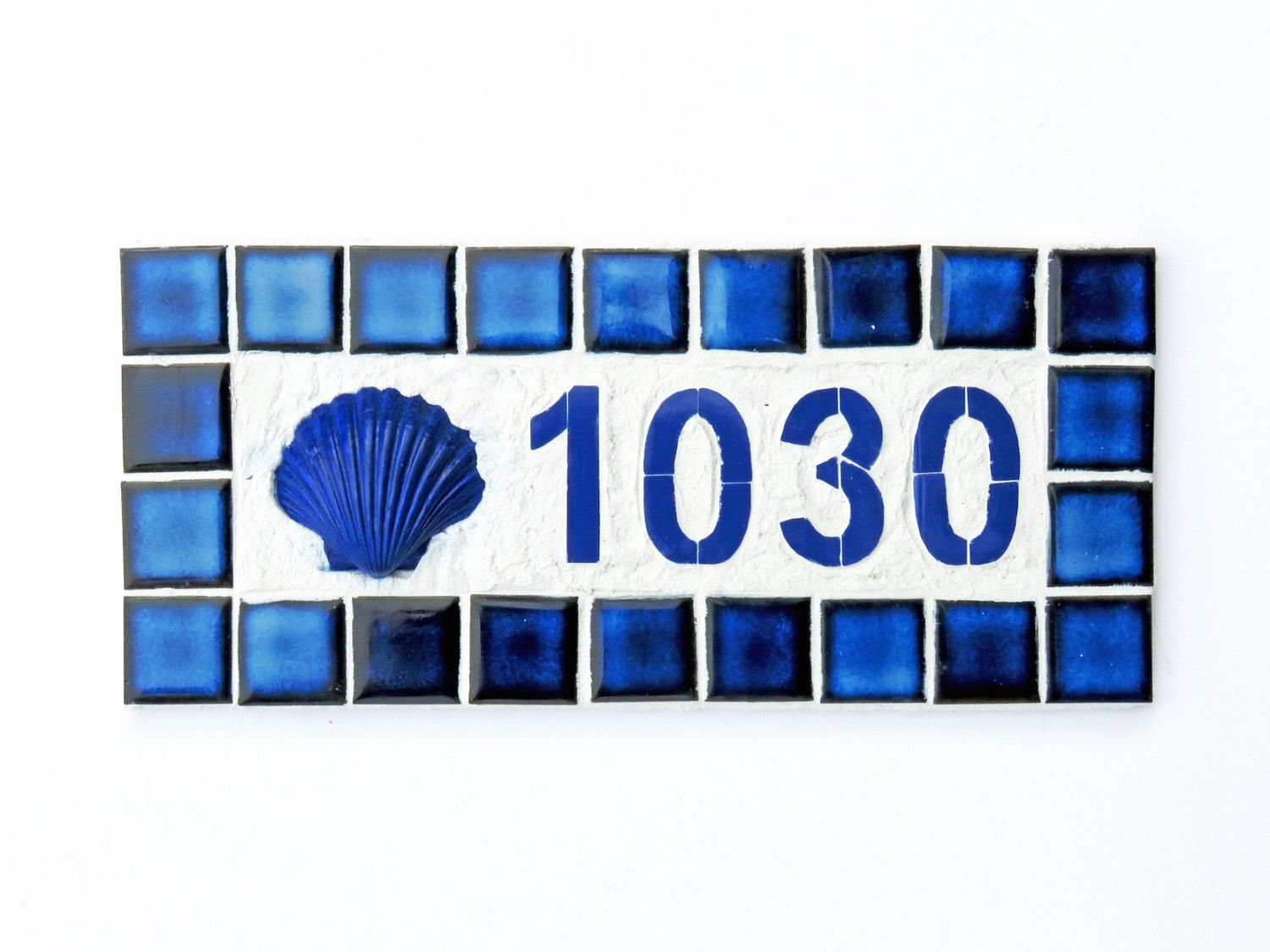 Outdoor house number mosaic mailbox number ceramic tile house outdoor house number mosaic mailbox number ceramic tile house number plaque beach house number large 4 dailygadgetfo Choice Image