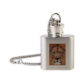 Lion Flask Necklace