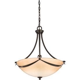 allen roth w winnsboro oilrubbed bronze pendant light with marbleized shade