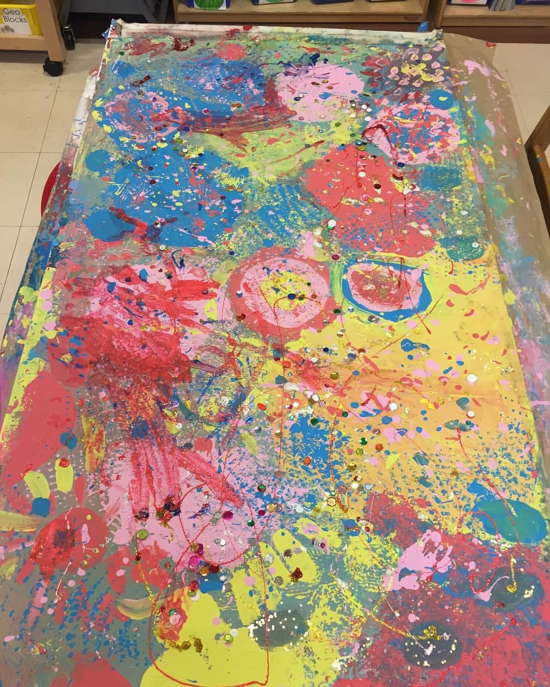 Kindergarten collaborative painting Collaborative art