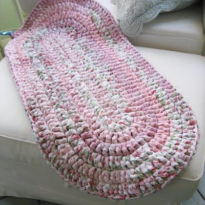 Free Crochet Rug Patterns Crocheted Oval Rug On Etsy A Global