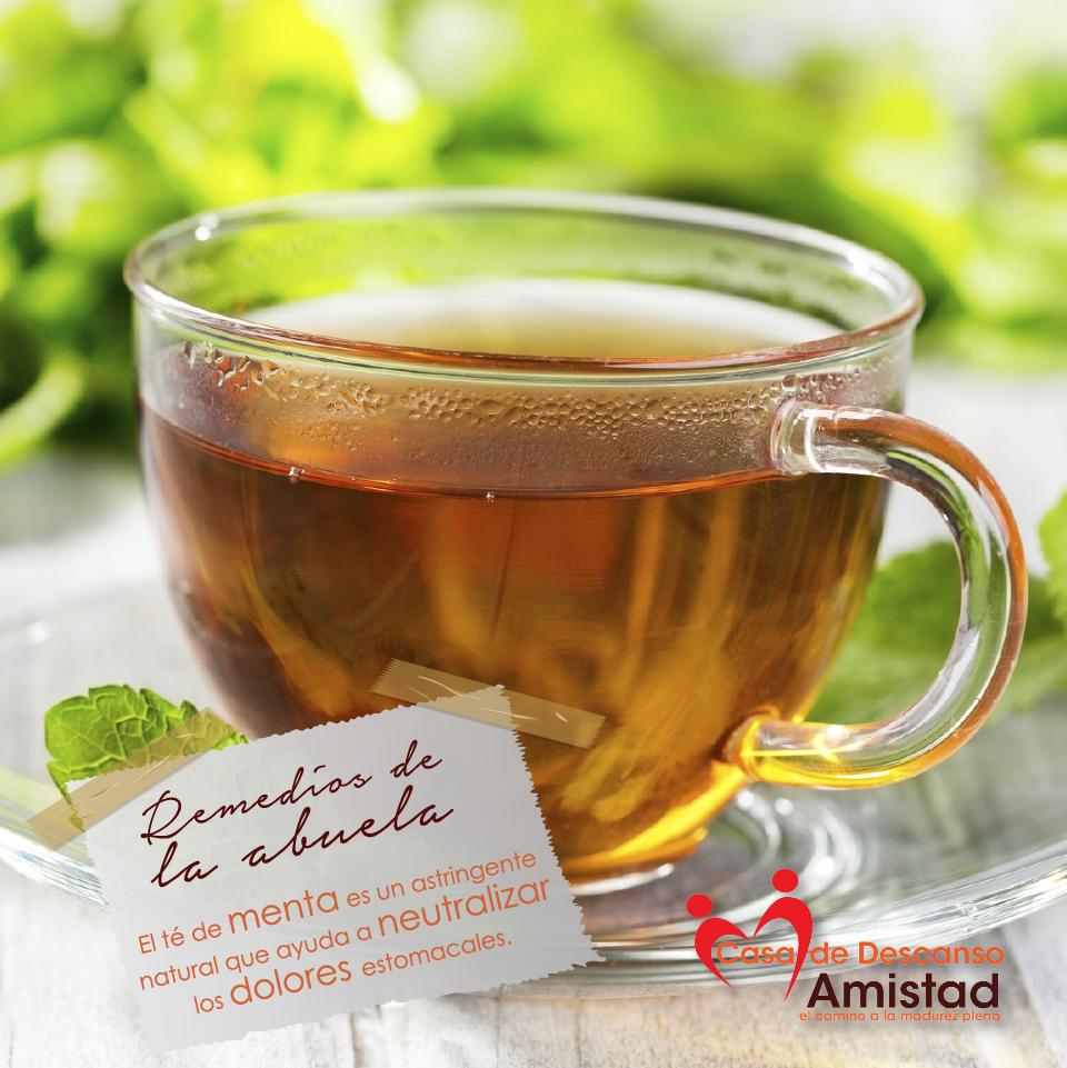 Para esos dolorcitos de estómago, tomar un té siempre es bueno. #RemediosDeLaAbuela.
