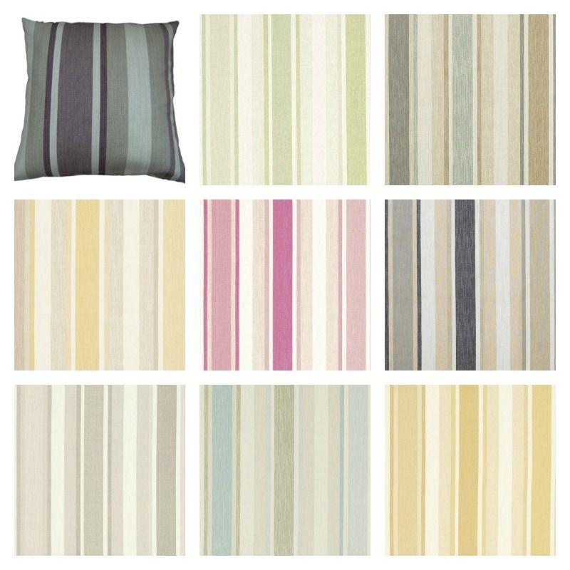 Cushion Covers Awning Stripe Laura Ashley Designer Fabric Handmade Home Decor Available At Www Hollesleyco Mirror Decor Stripe Throw Pillow Handmade Home Decor