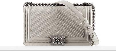 09a5e35b4afa tDF!! Grey Chanel Boy bag with gunmetal hardware | Bags & Shoes ...