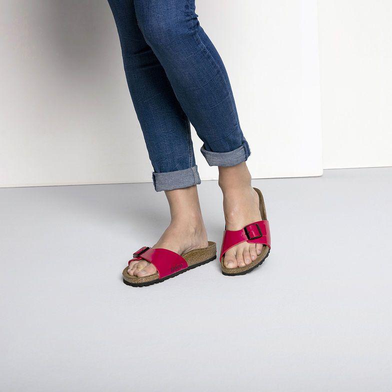 Birkenstock Madrid Birko flor Sandals Tango Red Patent 39 N