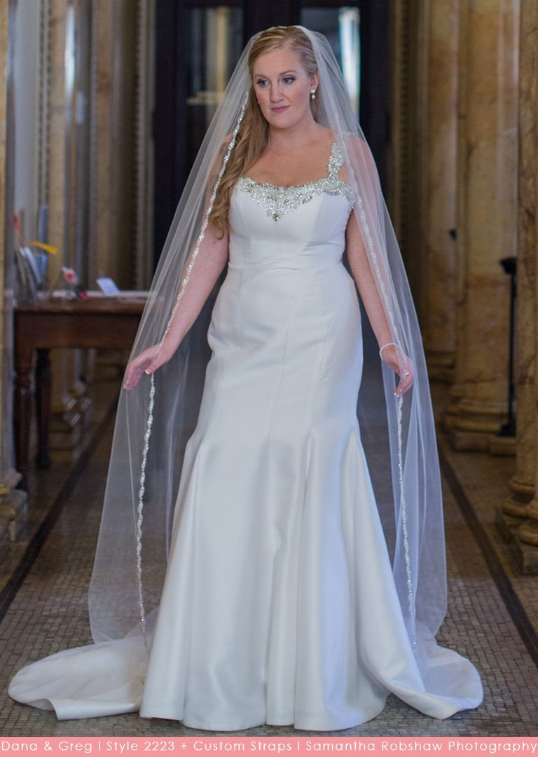 Casablanca Bridal Style 2223 - Matte Georgette fit and flare wedding ...