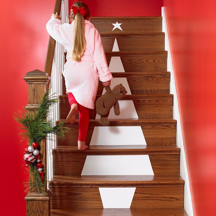 Start With The Stairs Adorn Stair Risers With A Christmas