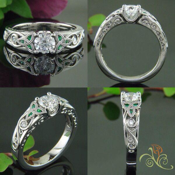 Emerald Celtic Ring Beautiful Celtic Wedding Rings Celtic