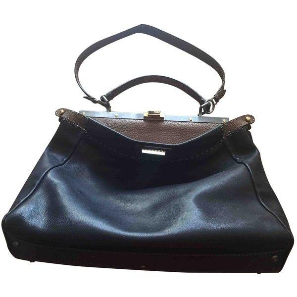 5e5ae13994 Pre-owned Fendi Peekaboo Leather Tote ( 1