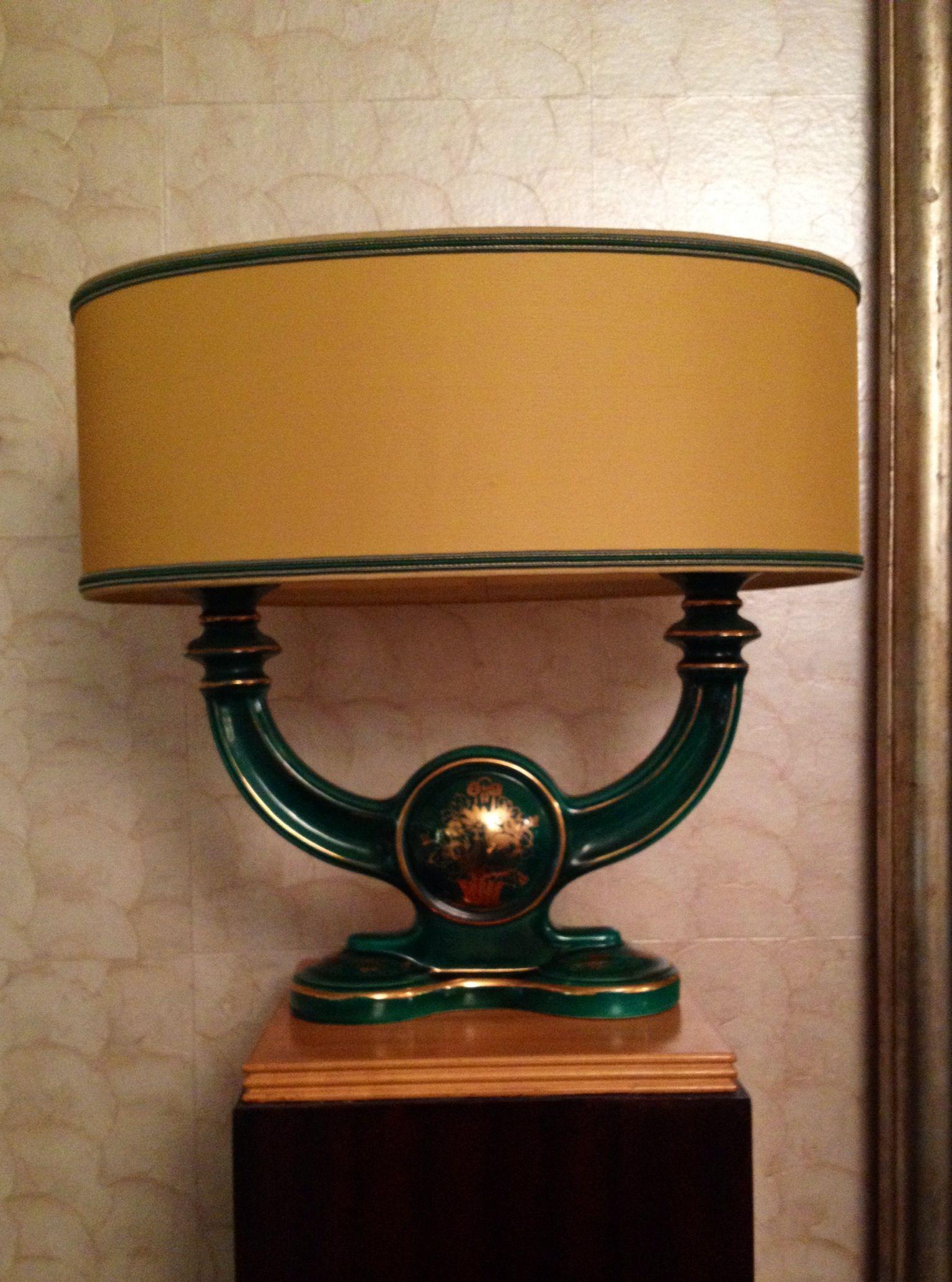 Gien   elegante coppia di candelabri / base per lampada in ...