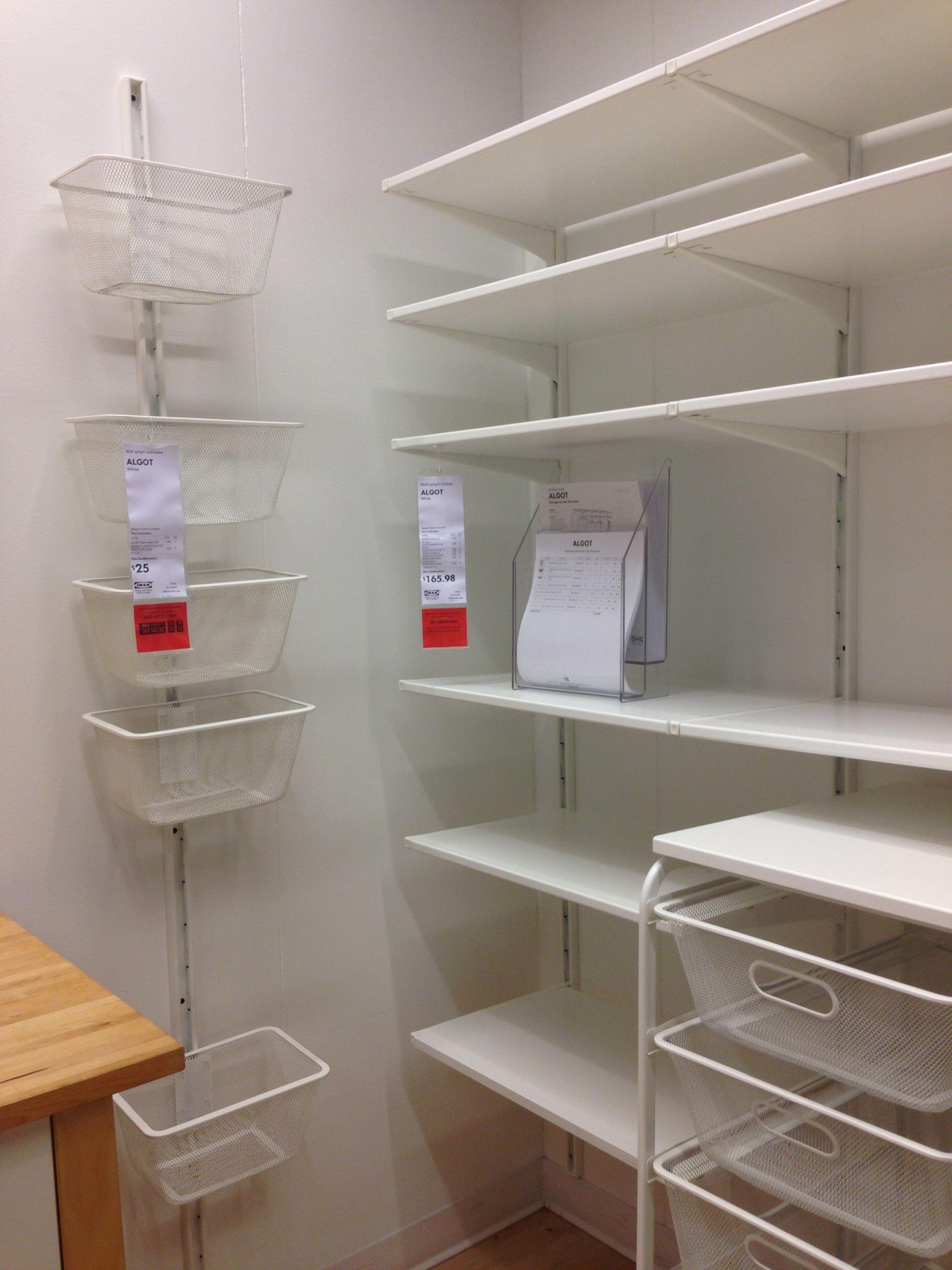 Algot Pantry Organizationstorage In 2019 Ikea Pantry