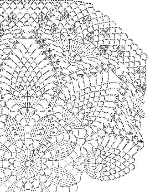 Napkins-12 - Country Mom | Crochet | Pinterest | Ananas muster ...