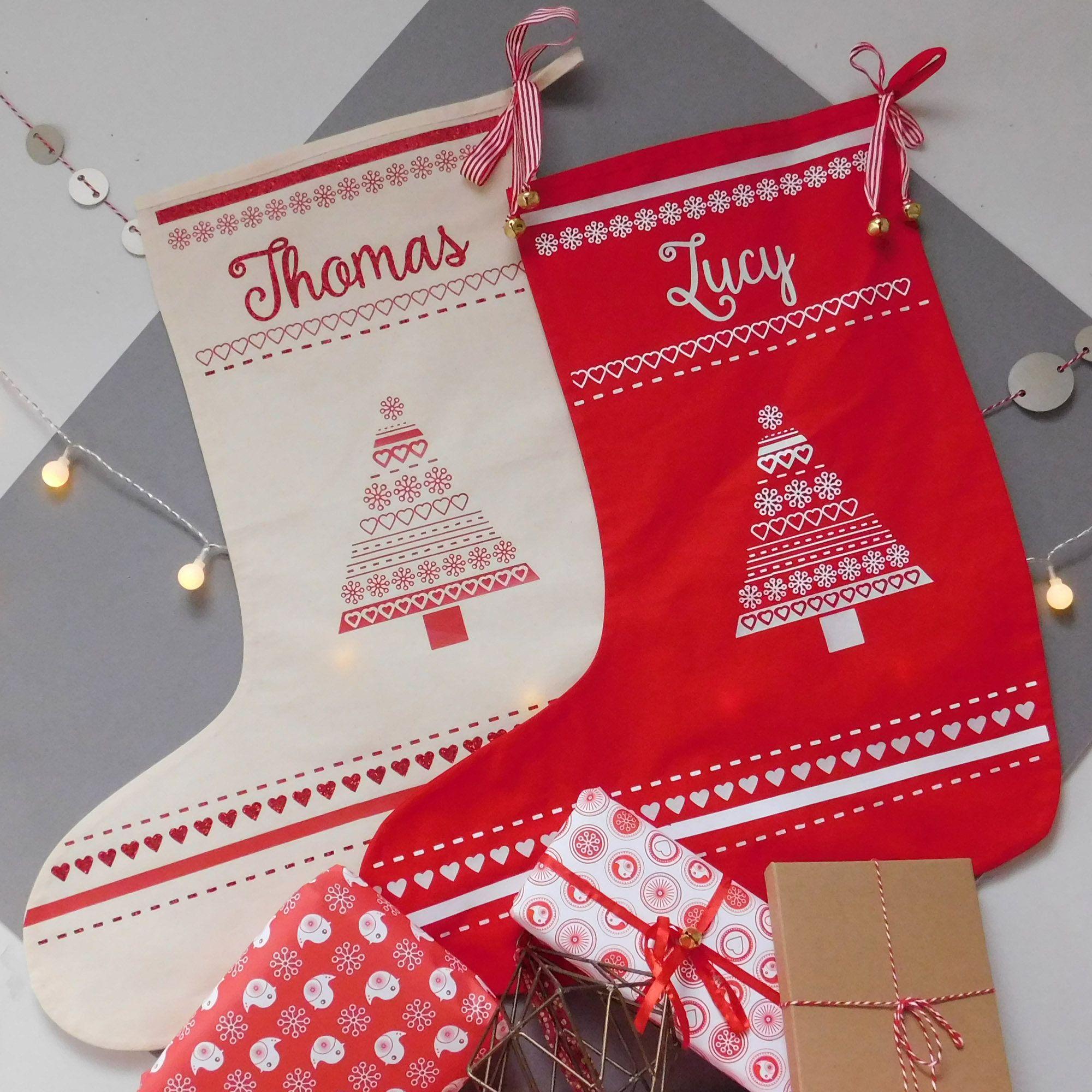 Personalised Xmas Stocking Christmas Stocking With Name Large