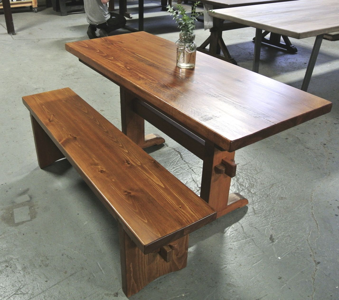 Small Trestle Table With Company Boards Company Boards Featured In Other Photo And Small Trestle Bench Made In Provid Table Dining Table Rustic Dining Table
