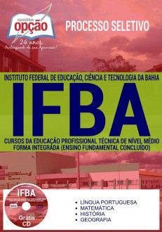 Apostila Concurso Ifba 2017 Cursos Forma Integrada Pdf Download
