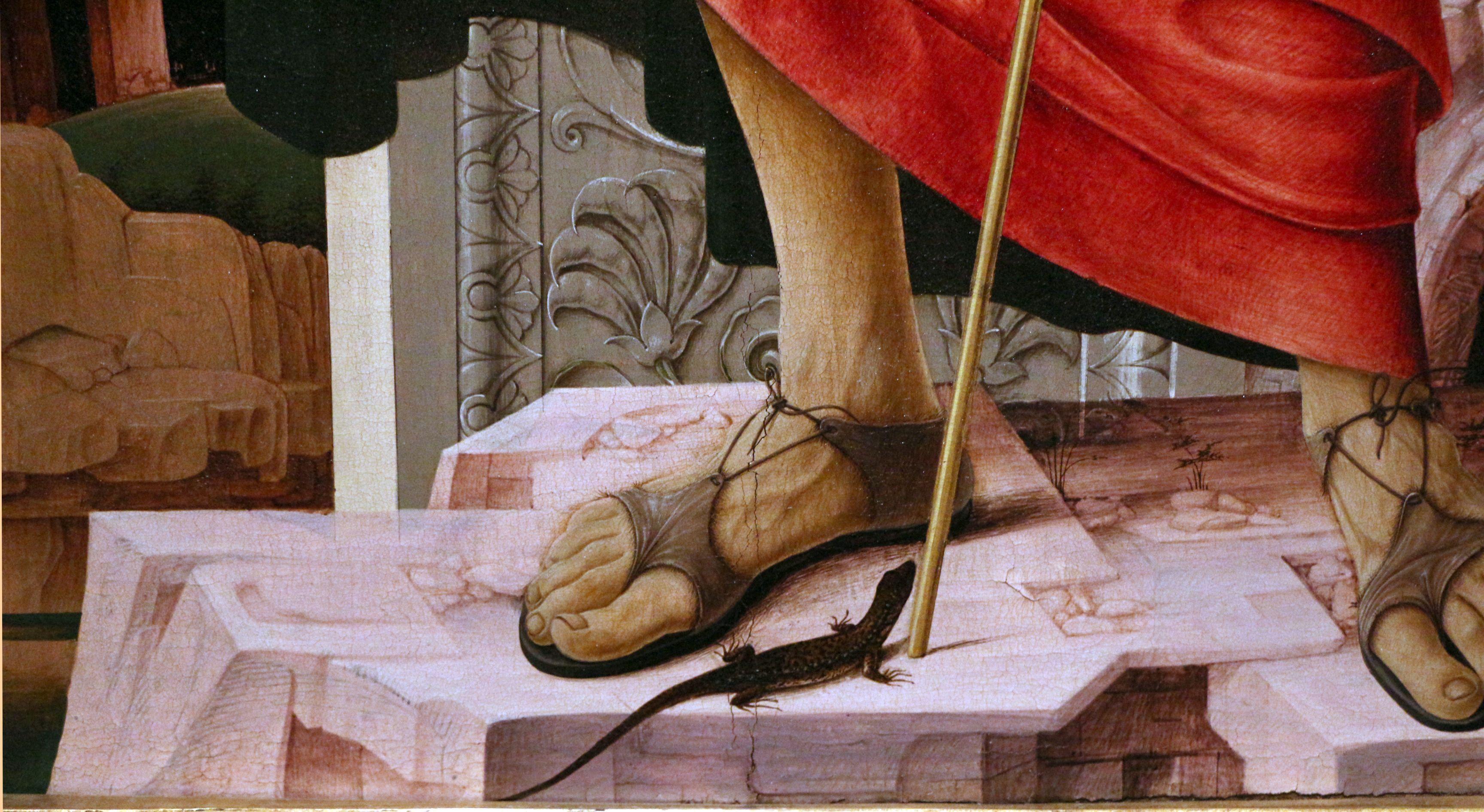 Francesco del Cossa - San Giovanni Battista (Polittico Griffoni), dettaglio  - 1473 - Pinacoteca di Brera, Milano | Giovanni battista, San giovanni,  Battisti
