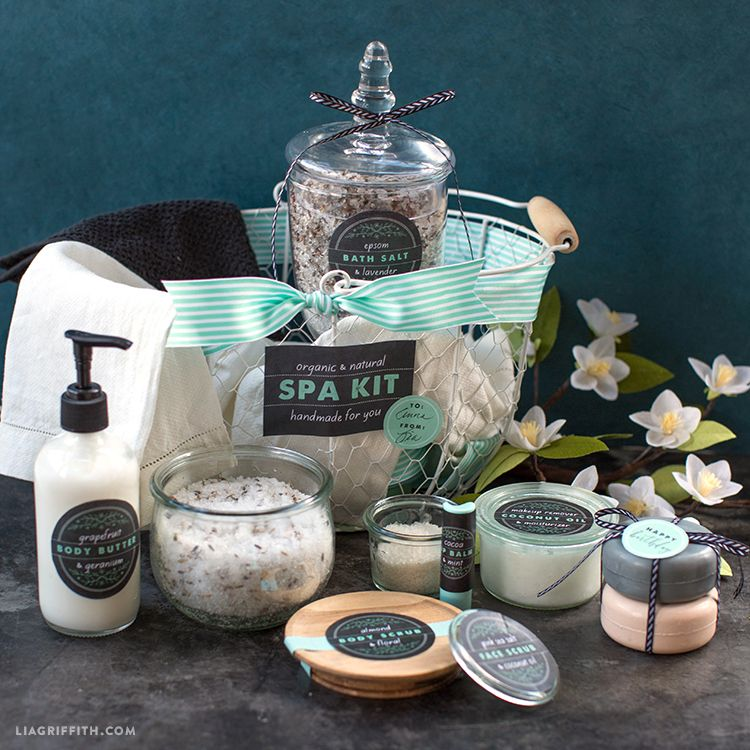 10 Essentials For The Ultimate At Home Spa Kit: Editable Labels For The Ultimate DIY Spa Kit
