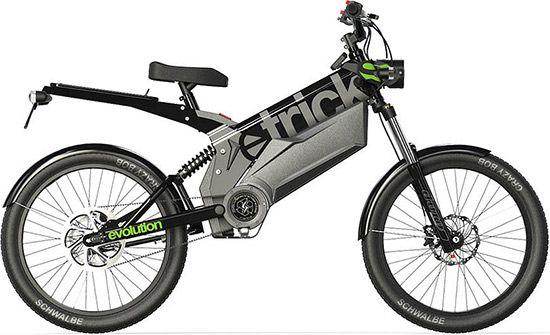 L'etricks Evolution urbain possède un porte-bagages et une batterie supplémentaire
