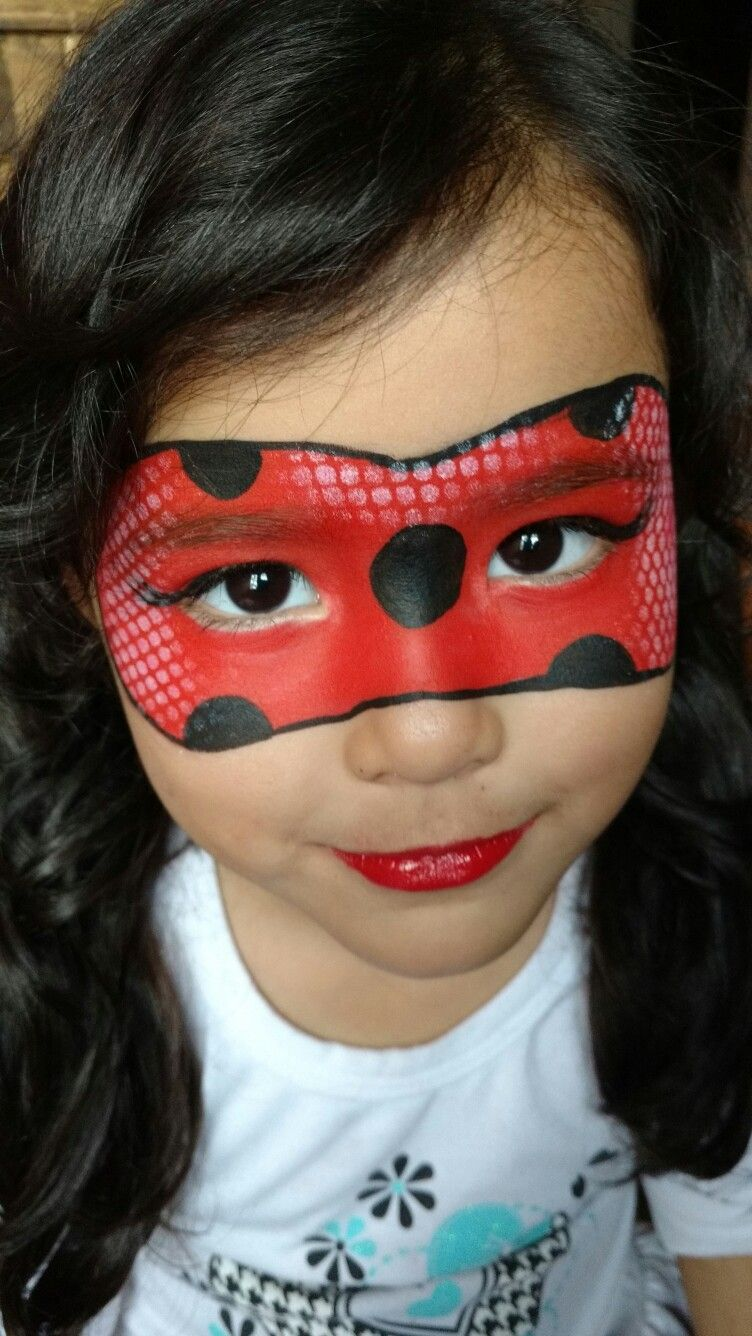 Ladybug Maquillage Enfant Facile, Maquillage Masque, Maquillage Noel,  Maquillages, Maquillage Carnaval,