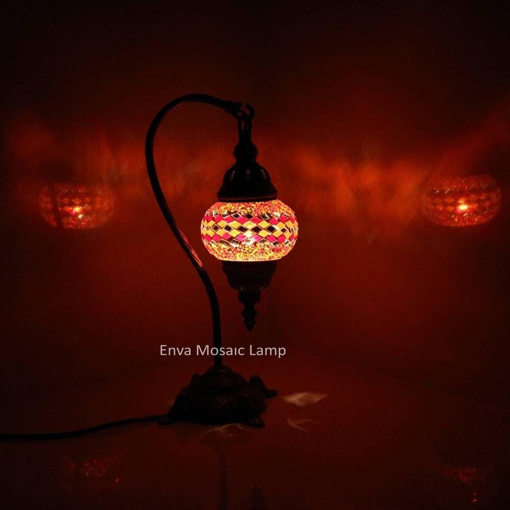 Turkish Moroccan Colourful Mosaic Lamp Light Glass Desk Table Handmade UK SELLER