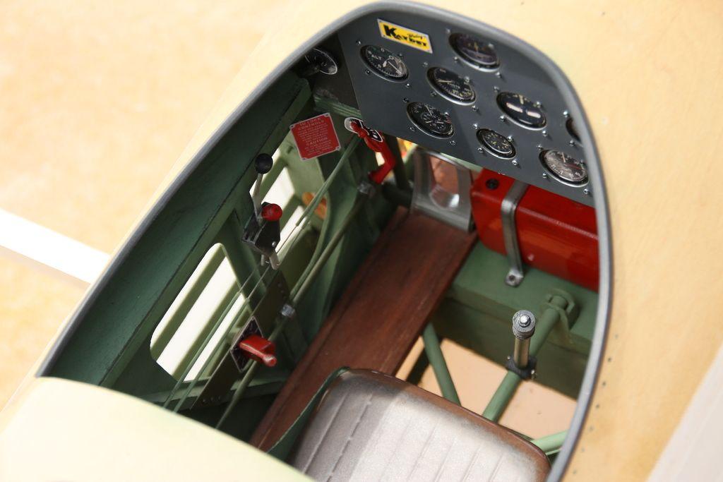 PT-17+Boeing+Stearman+Cockpit+for+1/3+scale+Balsa+USA+kit+by