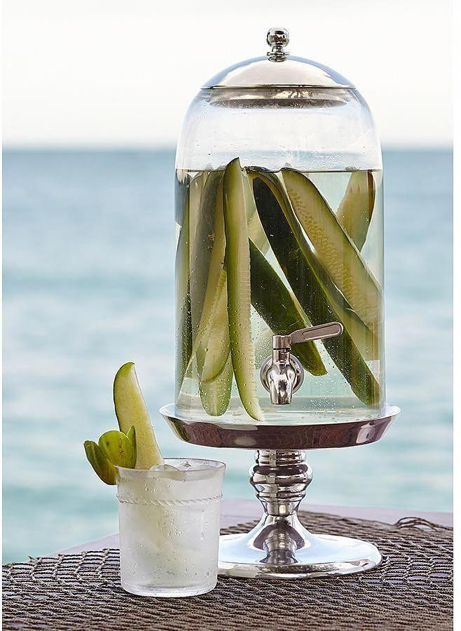 Pickled Water Hmmmmm Pickle Vodka Jar Drink Dispenser