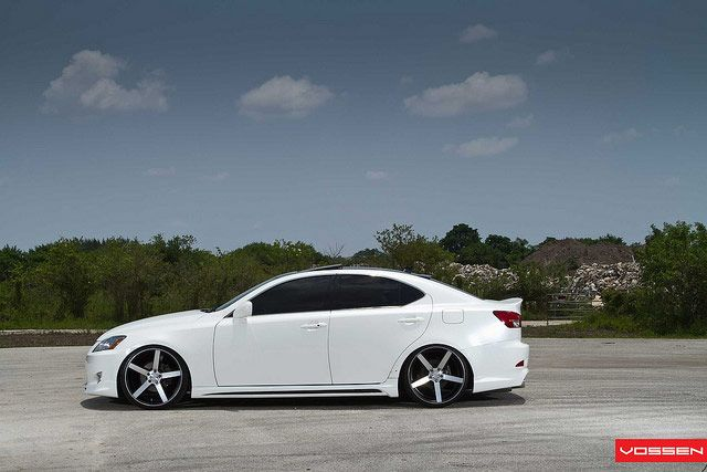Lexus IS with Vossen VVSCV3 Wheels Side Profile  Tacoma and
