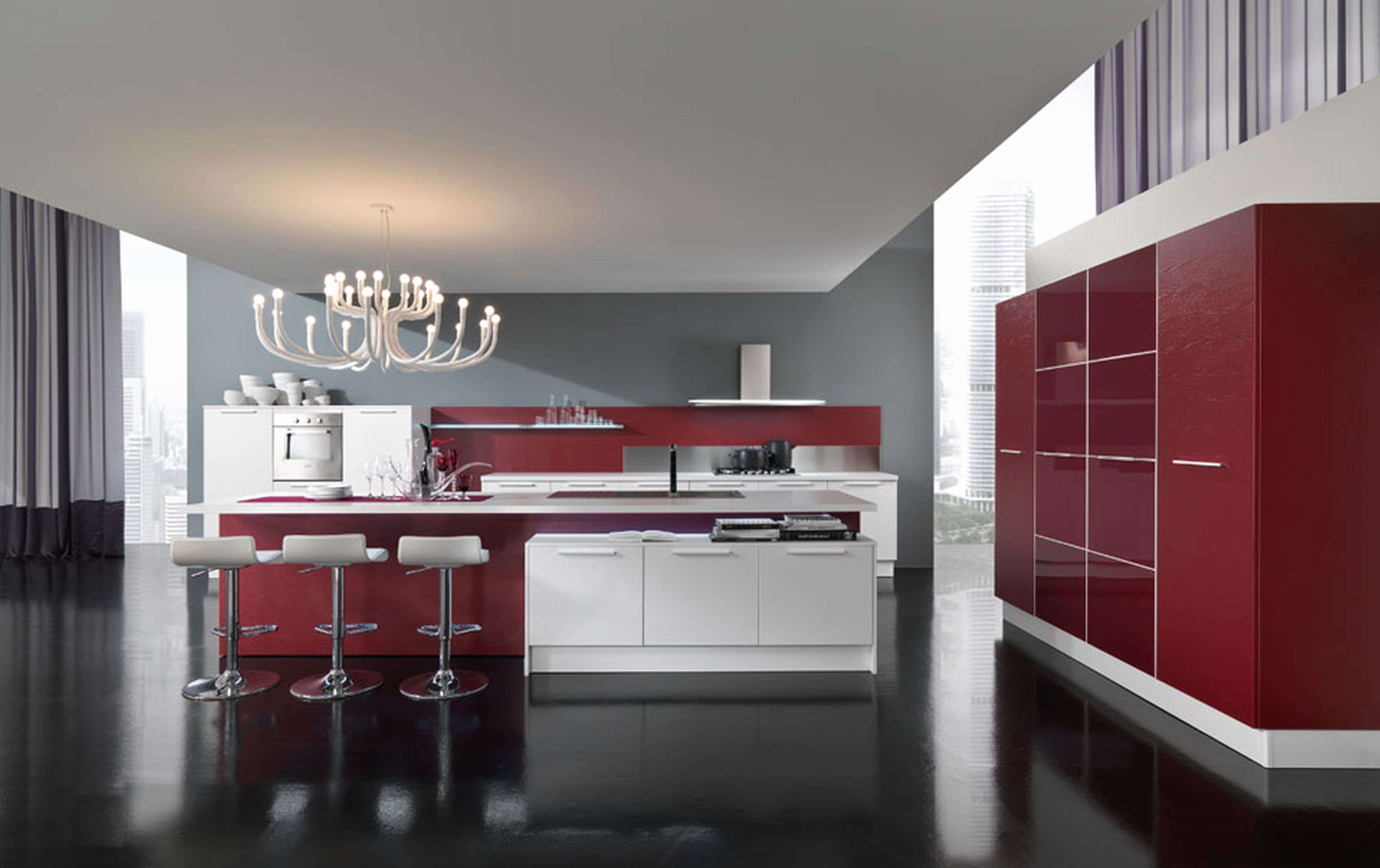 50 best of red gloss kitchen cabinets graphics | modern