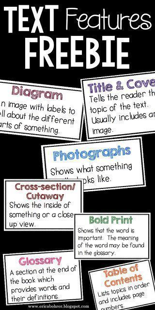 Text feature definition freebies reading pinterest text text feature definition freebies ccuart Gallery