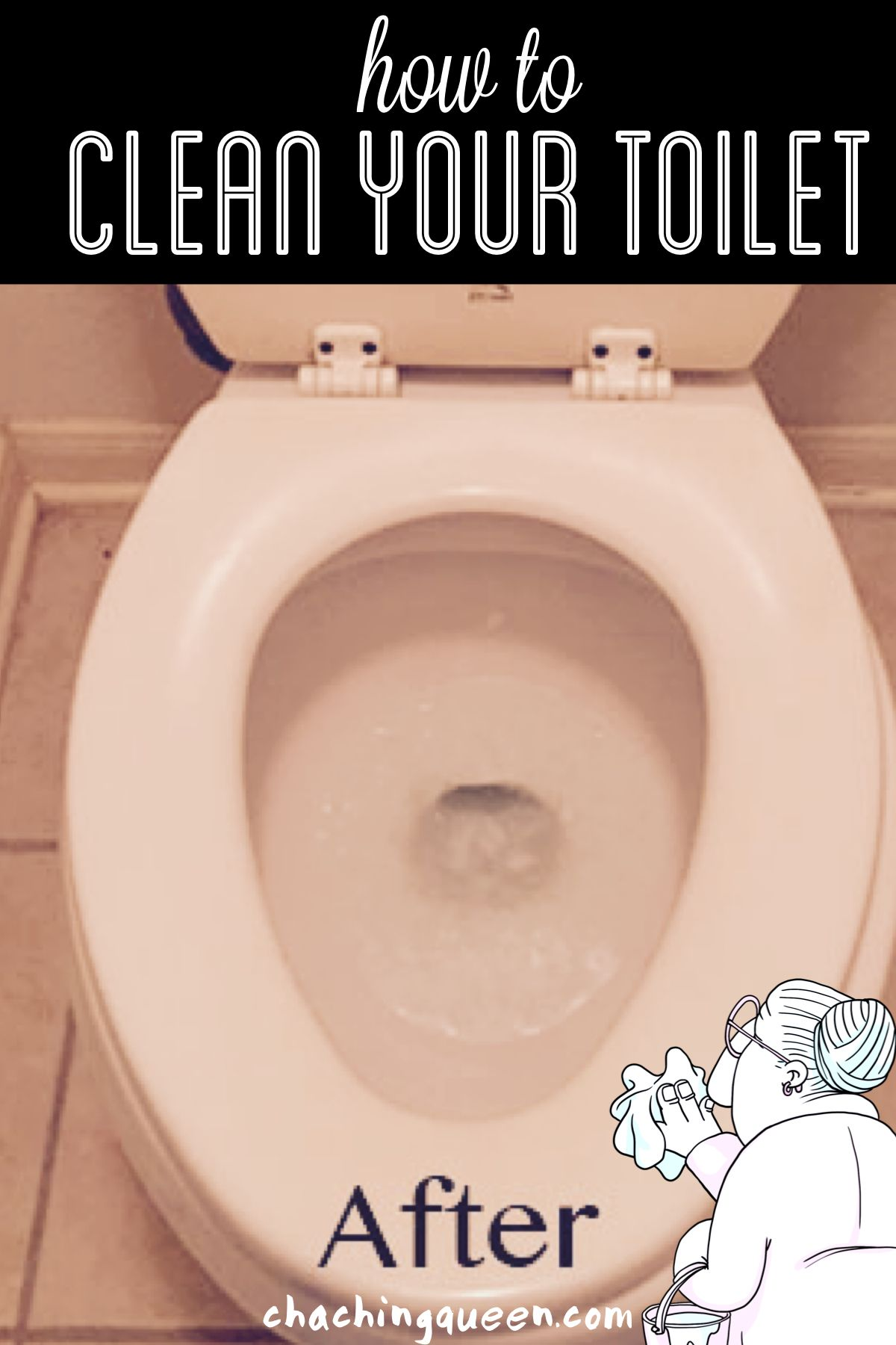 How To Clean A Toilet And How To Remove Hard Water Stains Toilet Cleaning Cleaning Hacks Hard Water Stain Remover