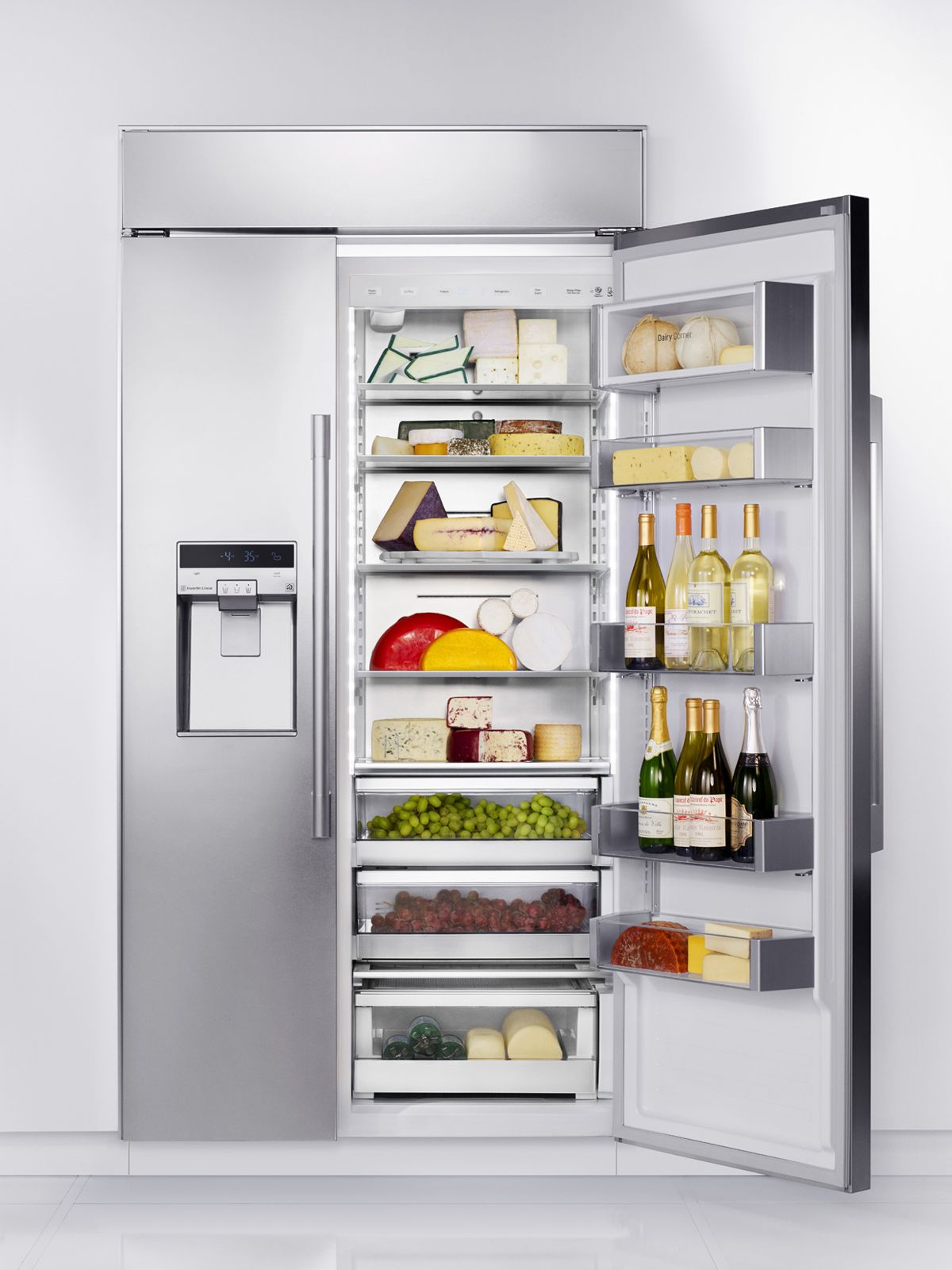 Builtin refrigerators panel ready built in kitchen