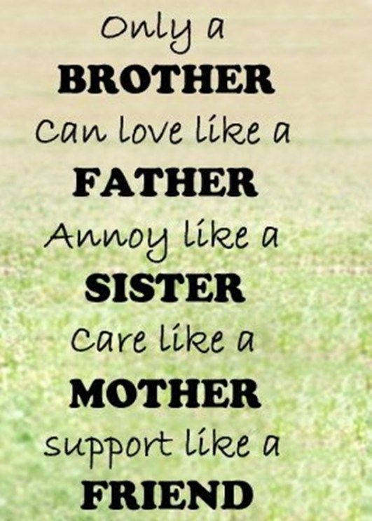 Love Brother Quotes Inspiration The 100 Greatest Brother Quotes And Sibling Sayings  Pinterest