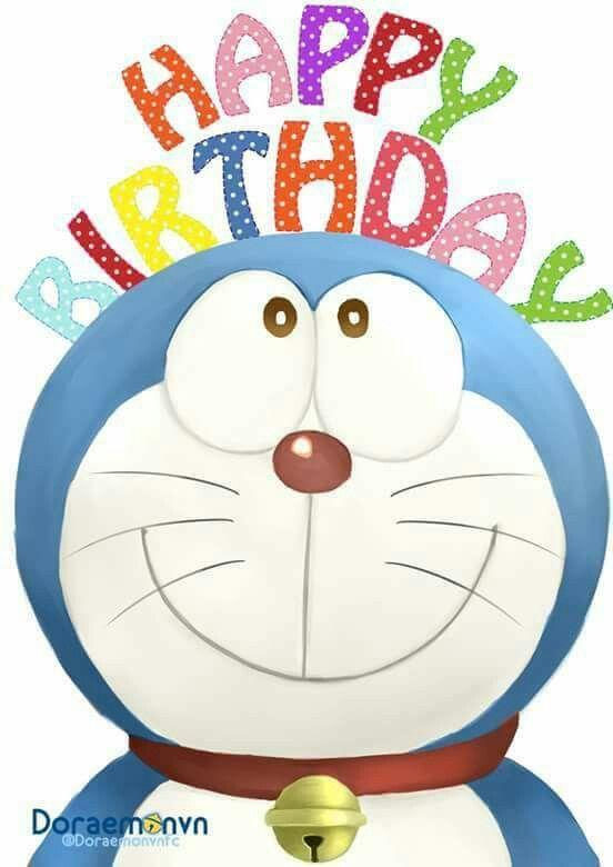 Cute Background Happy Birthday Doraemon Birthday