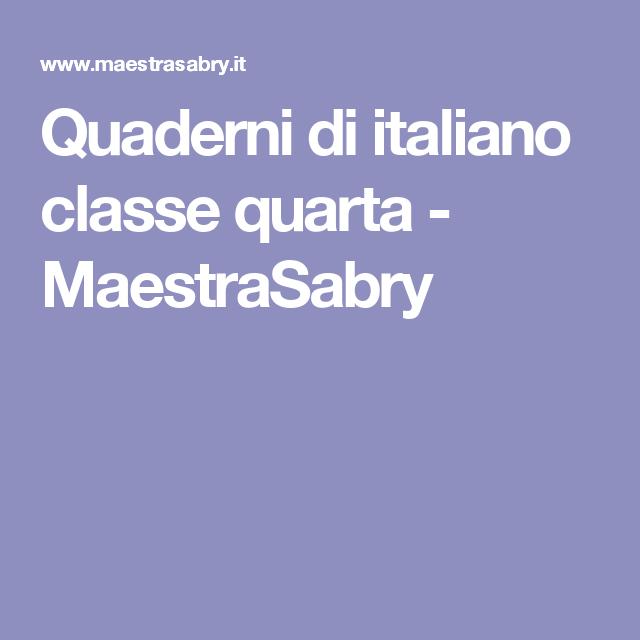 Favoloso Quaderni di italiano classe quarta - MaestraSabry | classe quinta  YS15