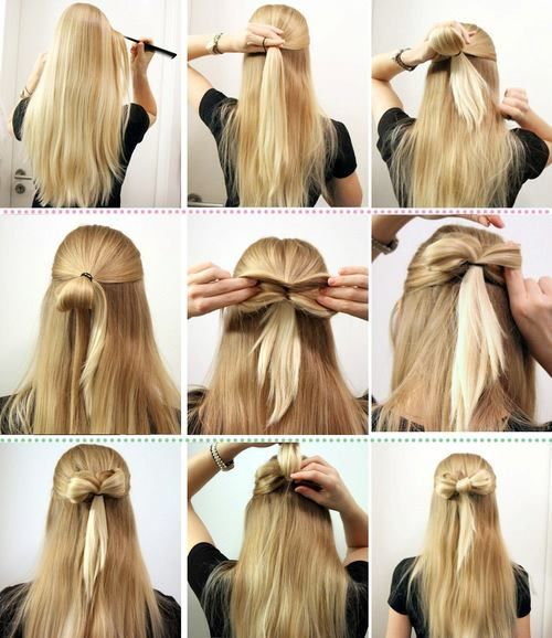 Diy Your Step By Step For The Best Cute And Creative Hairstyles For Women Hair Styles Bow Hairstyle Stylish Hair