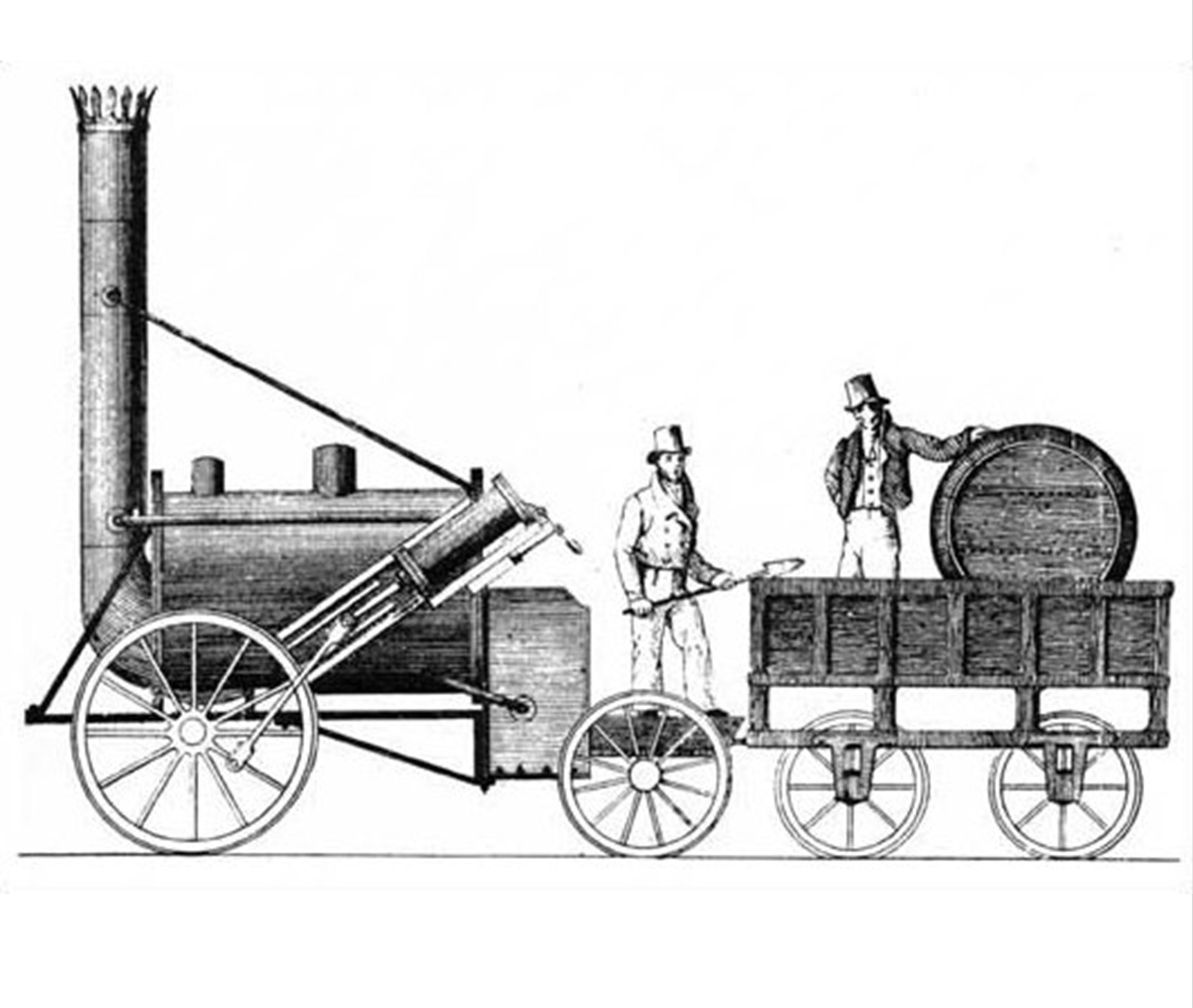 First Steam Locomotive Stephensons Rocket