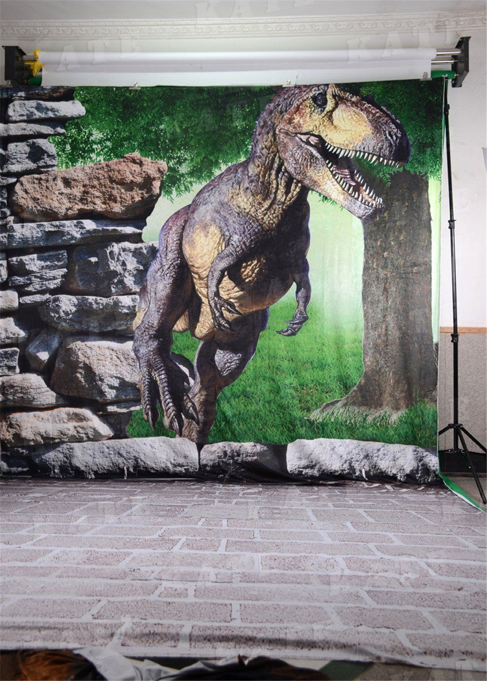 5x6.5ft Photographic Backdrops Dinosaur