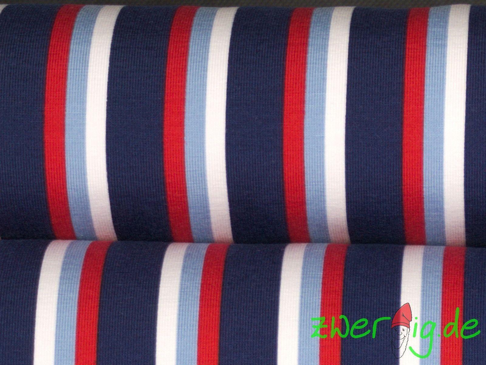 schmale Streifen grau-türkis Baumwoll-Ringeljersey 150cm