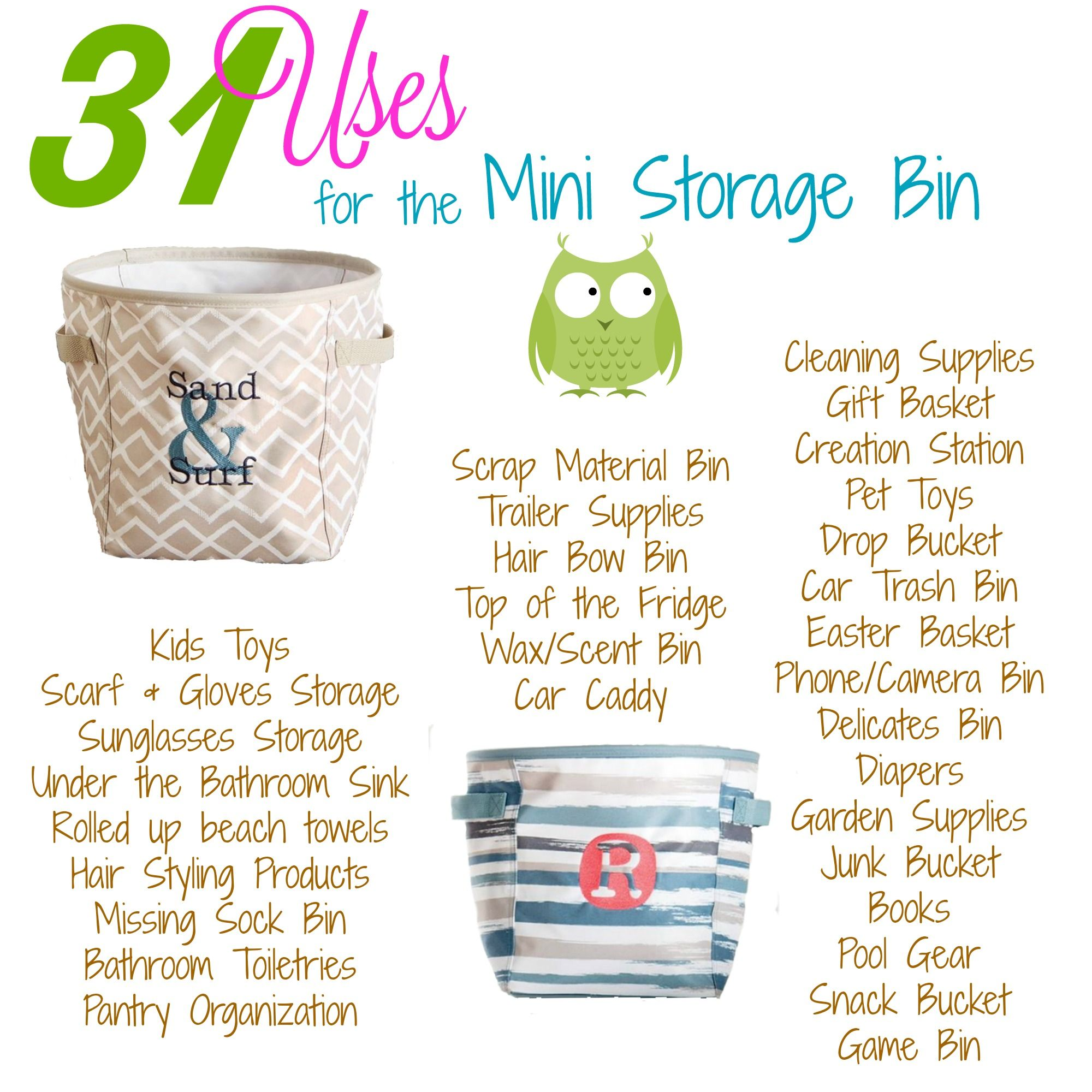 Thirty Oneu0027s Uses For Our Mini Storage Bin