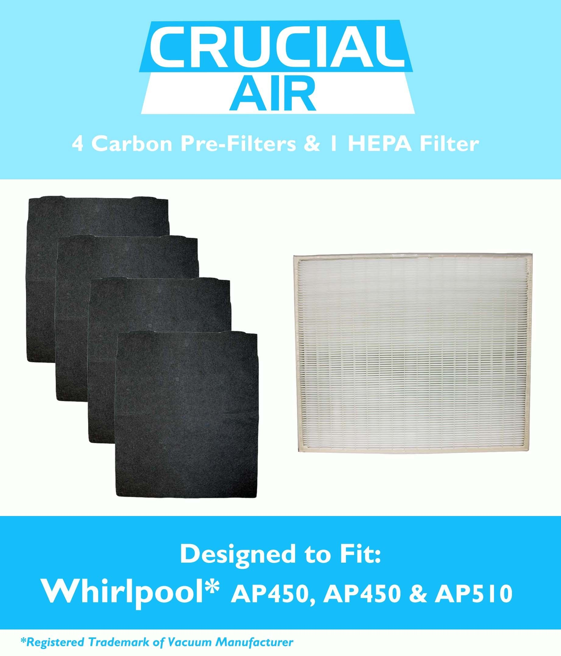Large Whirlpool Air Purifier Hepa Air Purifier Filter 4 Odor Neutralizing Carbon Pre Filters P Filter Air Purifier Air Purifier Hepa Air Purifier