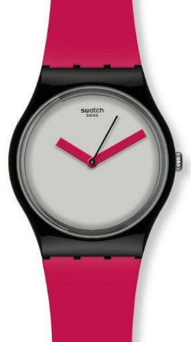 "Swatch Bicoloured Grey Dial Pink Plastic Ladies Watch GB266  ""Watch Phone"""