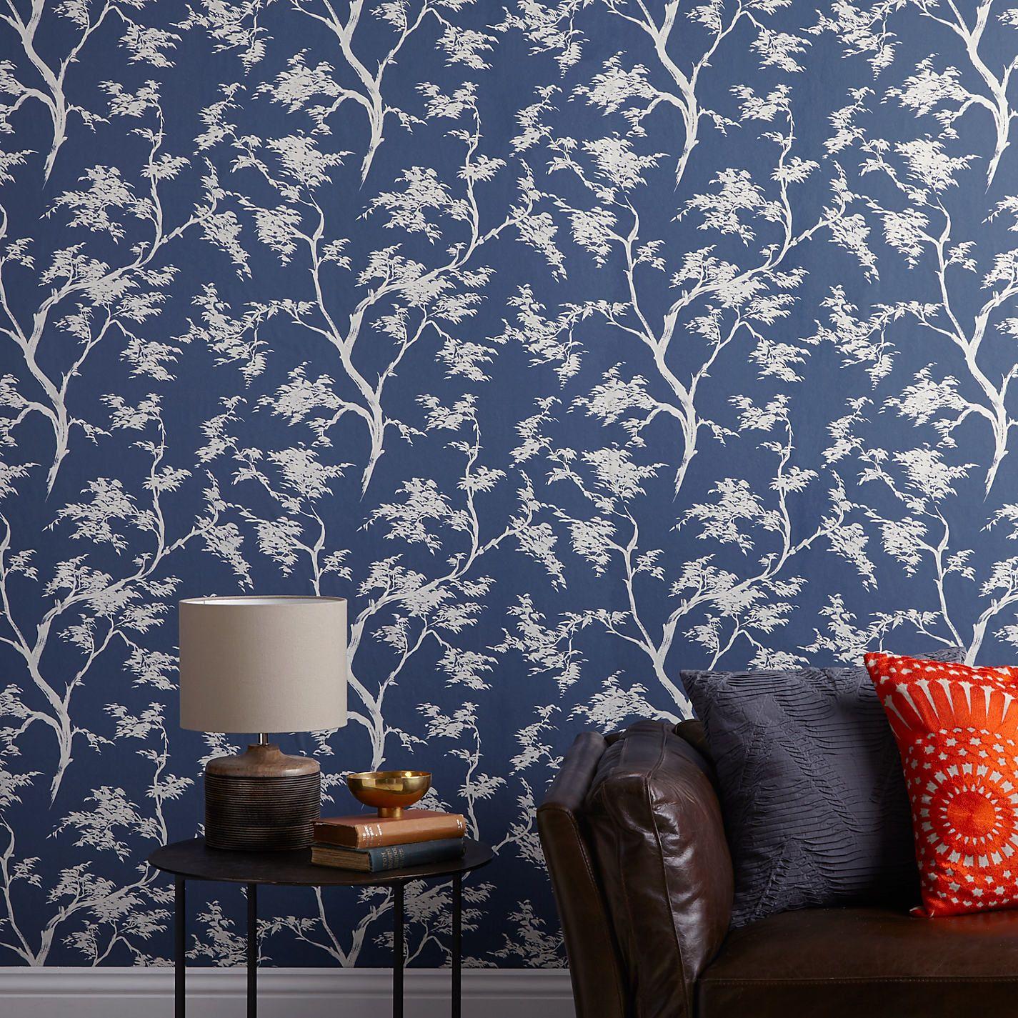 John Lewis & Partners Japanese Tree Wallpaper, Red