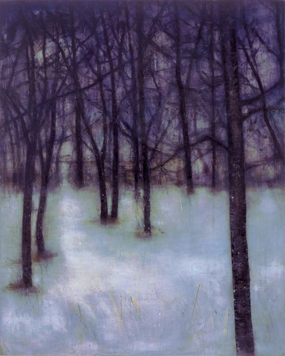 Katherine Bowling Evening 2004 Oil and spackle on wood panel 48 x 54 inches