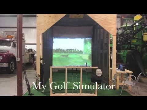 how to build a golf simulator at home