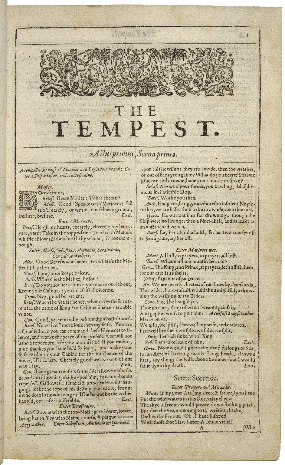 Imagen relacionada shakesperarebacon pinterest first page first folio tempest the tempest wikipedia the free encyclopedia biocorpaavc