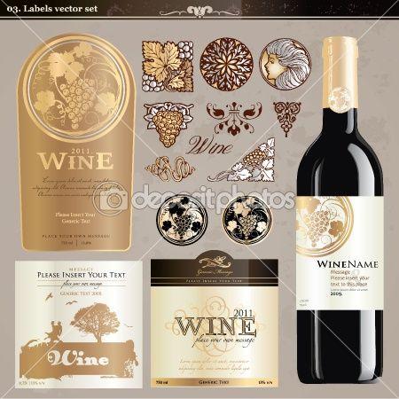 Wine Labels Set Stock Vector 6013372 Wine Label Template Vintage Wine Label Wine Bottle Label Template