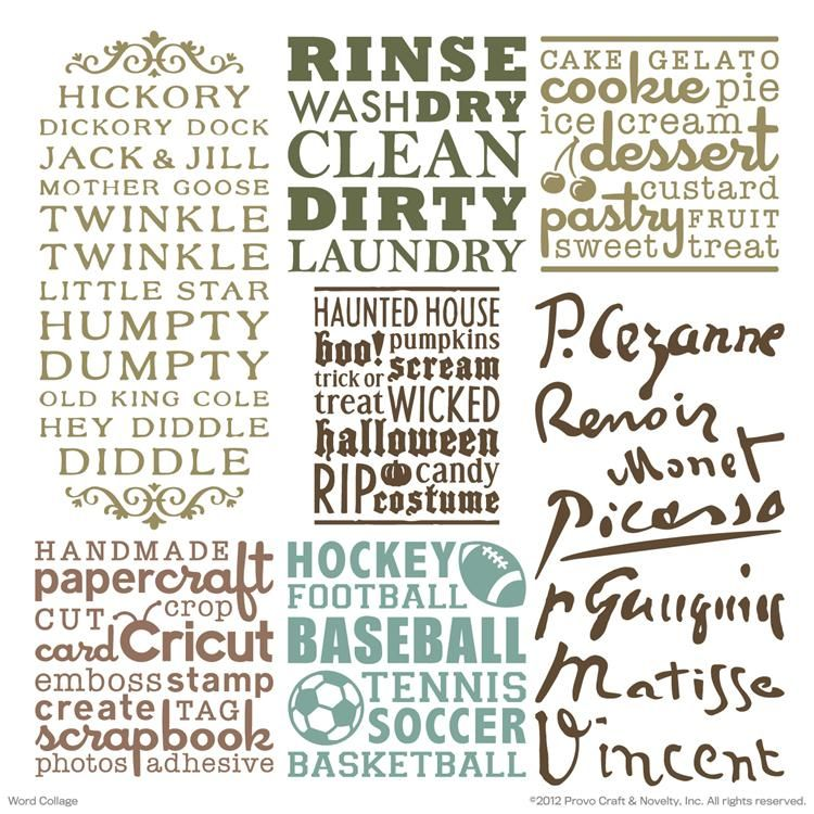 Cricut Vinyl Projects Cricut Projects Cartridge Word Collage - How to make vinyl wall art with cricut