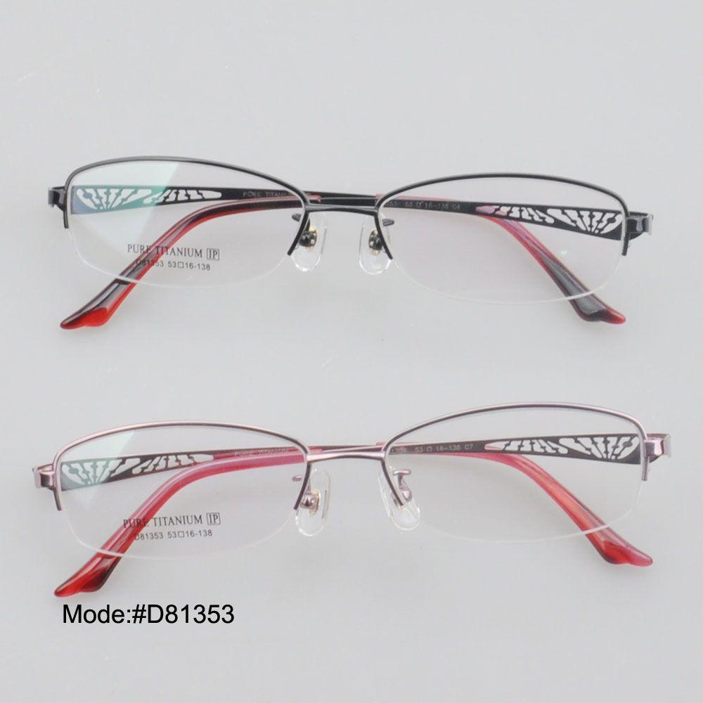 77f763eccb Eyeglass prescription ·    Click to Buy    D81353 half rim unisex pure  titanium myopia eyewear eyeglasses.